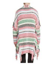 Maje - Multicolor Missy Fringe-trim Cardigan - Lyst