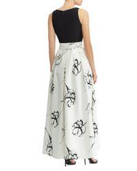 Ralph Lauren - Black Lauren Abstract-floral Gown - Lyst
