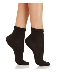 Kate Spade - Black Lady Ruffle Anklet Socks - Lyst