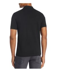 Armani - Black Half Zip Classic Fit Polo Shirt for Men - Lyst