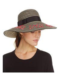 kate spade new york | Black La Vie En Rose Stripe Sun Hat | Lyst