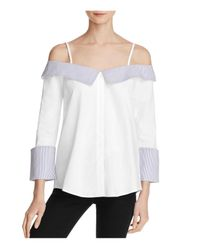 Endless Rose | White Cold Shoulder Button-down Shirt | Lyst