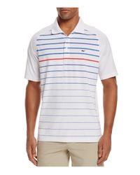 Vineyard Vines | White Watch Hill Stripe Performance Regular Fit Polo for Men | Lyst