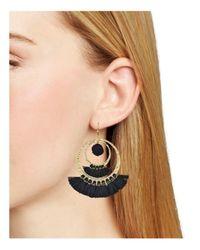Aqua | Multicolor Lauren Pom-pom And Tassel Drop Earrings | Lyst