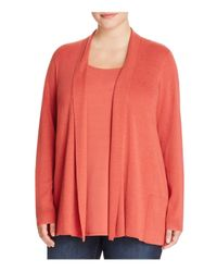 Eileen Fisher | Multicolor Shawl Collar Cardigan | Lyst