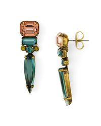 Sorrelli | Green Gem Pop Geometric Drop Earrings | Lyst