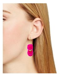 BaubleBar - Pink Havana Hoop Earrings - Lyst