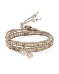Chan Luu | Metallic Beaded Wrap Bracelet | Lyst