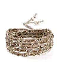 Chan Luu | Metallic Beaded Wrap Bracelet | Lyst