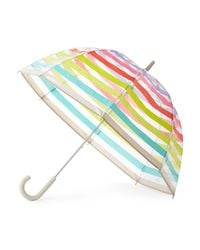 kate spade new york | Blue Candy Stripe Umbrella | Lyst
