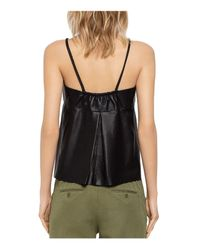Zadig & Voltaire - Black Cali Deluxe Leather Camisole Top - Lyst