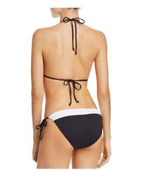 Shoshanna - Soft Black String Bikini Top - Lyst