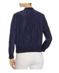 MICHAEL Michael Kors - Blue Embroidered Bomber Jacket - Lyst