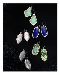 Kendra Scott - Metallic Deily Mother-Of-Pearl Statement Earrings - Lyst