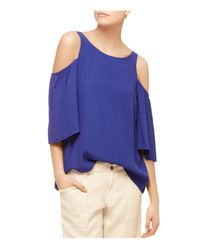 Sanctuary | Blue Sonia Cold-shoulder Top | Lyst