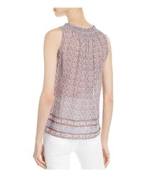 Joie - Blue Alphee Printed Sleeveless Top - Lyst