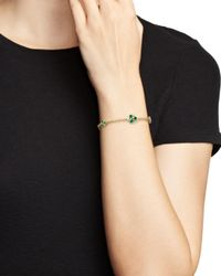 Temple St. Clair - Metallic 18k Yellow Gold Emerald Trio And Diamond Bracelet - Lyst