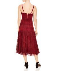 Sandro - Red Mado Lace Midi Dress - Lyst