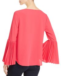 Vince Camuto - Pink Pleat Detail Top - Lyst