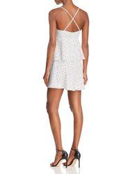 Bardot - White Polka Dot Tiered Dress - Lyst