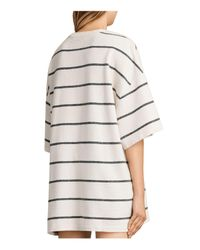 AllSaints | White Arctic Striped Tee | Lyst