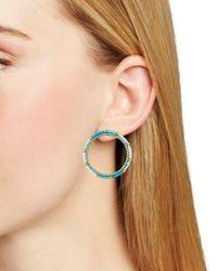 Rebecca Minkoff - Multicolor Beaded Loop Drop Earrings - Lyst
