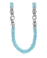 Lagos - Blue Caviar Icon Bead Convertible Bracelet & Necklace - Lyst