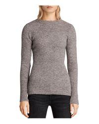 AllSaints   Gray Faria Sweater   Lyst