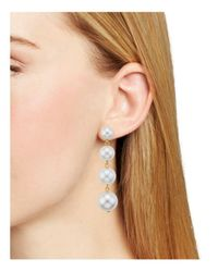 Rebecca Minkoff - White Statement Sphere Drop Earrings - Lyst
