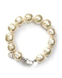 Majorica | Metallic Baroque Simulated Pearl Bracelet | Lyst