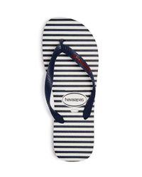 Havaianas - Blue Men's Top Nautical Flip-flops for Men - Lyst