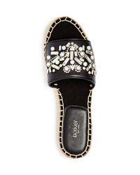 Botkier - Black Jin Embellished Espadrille Slide Sandals - Lyst