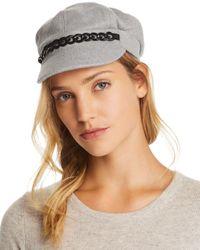 august hat company - Gray Chain-trim Newsboy Cap - Lyst