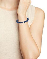 Aqua - Multicolor Sterling Silver & Stone Beaded Stretch Bracelet - Lyst