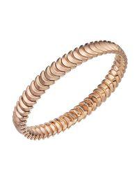 Chimento - Pink 18k Rose Gold Armillas Collection Ridge Curve Bracelet - Lyst