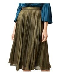 Hobbs - Laila Pleated Metallic Skirt - Lyst