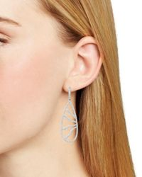 Nadri - Metallic Corsage Tear Drop Leverback Earrings - Lyst