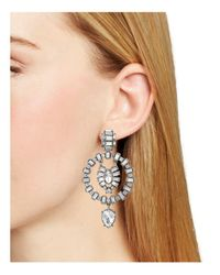 Aqua - Metallic Galante Statement Earrings - Lyst