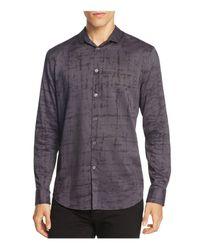 John Varvatos - Multicolor Windowpane Slim Fit Button-down Shirt for Men - Lyst