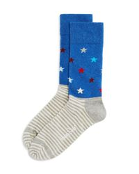 Happy Socks - Blue Men's Stars & Stripes Socks for Men - Lyst