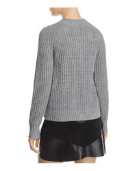 PPLA - Gray Tanner Lace-up Sweater - Lyst