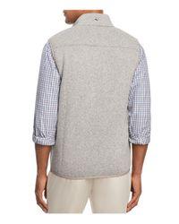 Vineyard Vines - Gray Full Zip Vest for Men - Lyst