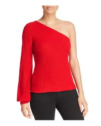 Aqua | Red One-shoulder Sweater | Lyst