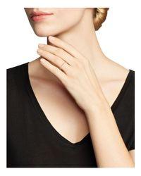 Zoe Chicco | White 14k Rose Gold Diamond Baguette Ring | Lyst