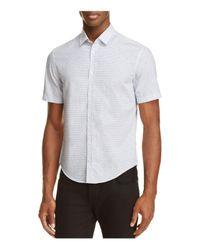 BOSS Green | Blue C-boccino Micro Print Slim Fit Button-down Shirt for Men | Lyst
