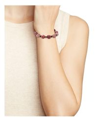 Bourbon and Boweties - Pink Stretch Bracelet - Lyst