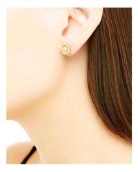 John Hardy - Metallic Classic Chain 18k Gold Diamond Pavé Small Stud Earrings - Lyst