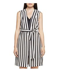 BCBGeneration | Black Striped Tie-belt Vest | Lyst