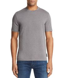 Armani - Blue Emporio Patterned Tee for Men - Lyst