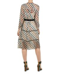 Ted Baker - White Colour By Numbers Ria Heart-print Shirt Dress - Lyst